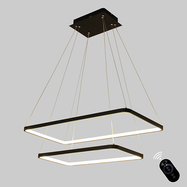 1-Light Ecolight™ 40 cm Bulb Included / Adjustable / Dimmable Pendant Light Metal Acrylic Linear Painted Finishes Modern Contemporary 110-120V / 220-240V
