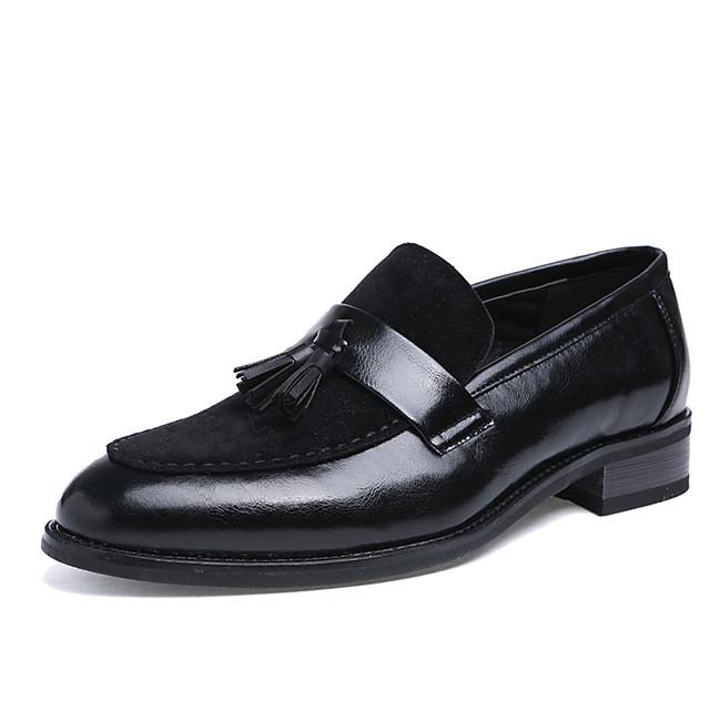 Men's Formal Shoes Leather Spring / Fall British Oxfords Walking Shoes Black / Dark Brown / Wedding / Party & Evening / Party & Evening / Dress Shoes