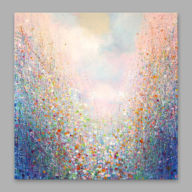 Oil Painting Hand Painted Vertical Abstract Artistic Stretched Canvas