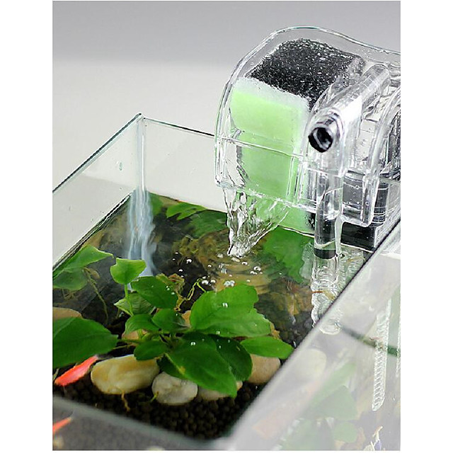 Aquarium Fish Tank Fish Tank Filter Aquarium Filter Vacuum Cleaner Waterproof Machine Washable Transparent Waterfall ABS Plastic 1pc 220-240 V / #