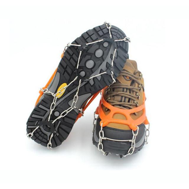 Traction Cleats Crampons Outdoor Non-Slip Metal Alloy Rubber Metal Climbing Outdoor Exercise Orange