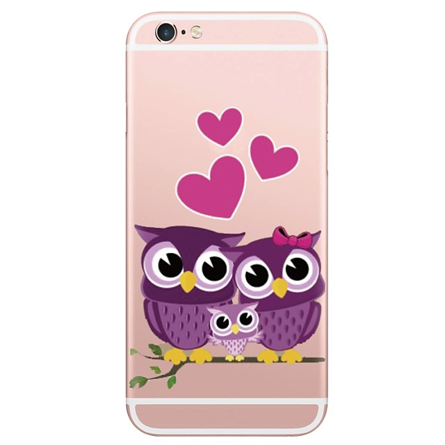 Case For Apple iPhone X / iPhone 8 Plus / iPhone 8 Pattern Back Cover Animal / Owl Soft TPU