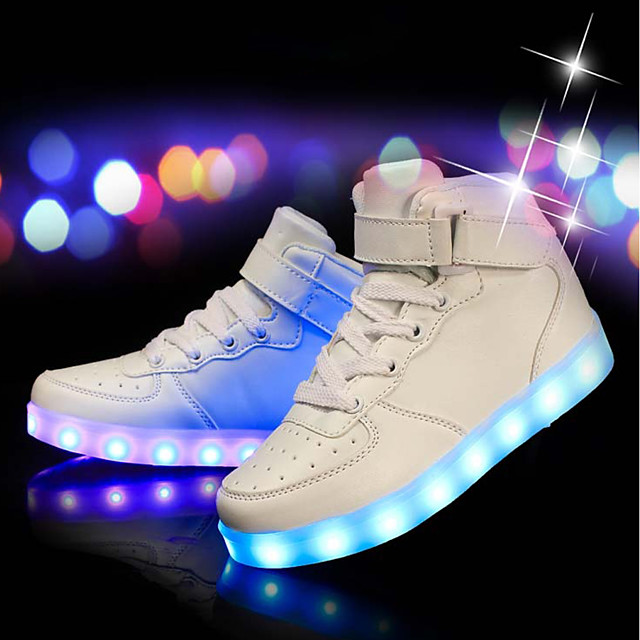 Boys' Sneakers LED / Comfort / LED Shoes PU Little Kids(4-7ys) / Big Kids(7years +) LED / Luminous White / Black / Red Spring & Summer / Party & Evening / TR