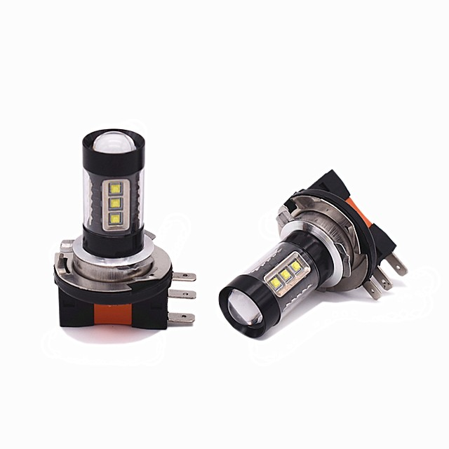 2PCS 80W 8000LM H15 LED DRL Function LED Bulb High beam Headlamp For Universal universal Universal car light