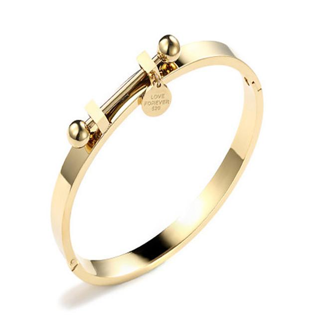 Women's Bracelet Bangles Ladies Fashion Korean Alloy Bracelet Jewelry Rose Gold / Gold For Gift Daily Date