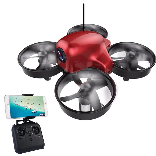 RC Drone DMRC DM107S 4CH 6 Axis 2.4G With HD Camera 0.3MP 640P*480P RC Quadcopter LED Lights / Auto-Takeoff / Headless Mode RC Quadcopter / Remote Controller / Transmmitter / 1 Battery For Drone