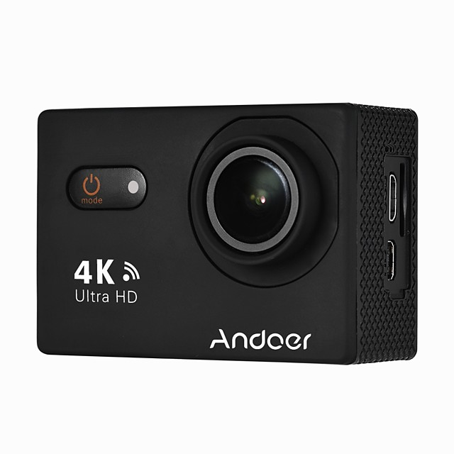 Andoer AN9000 4K 16MP WiFi Action Sports Camera 1080P FHD 2 Touchscreen 170 Wide Angle Lens with Hard Case Support 4X Zoom Waterproof 40m