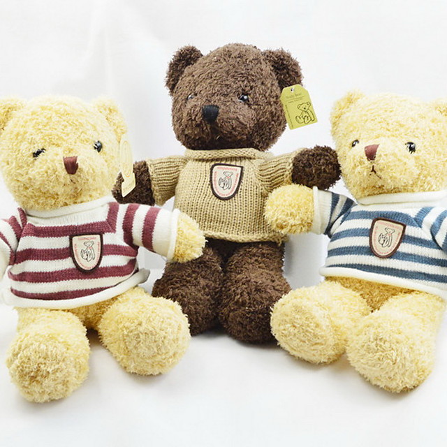 Bear Teddy Bear Stuffed Animal Plush Toy Cute Soft Cartoon Toy Cute Perfect Gifts Present for Kids Babies Toddler / Kid's