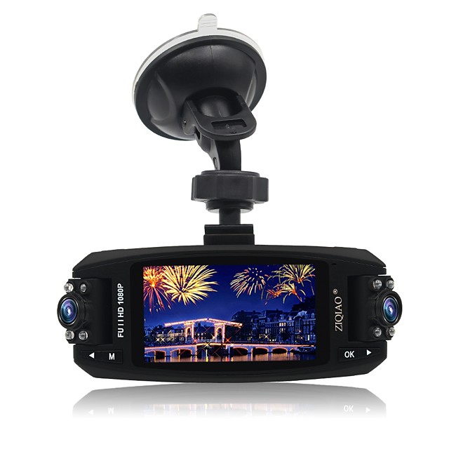 ZIQIAO JL-F80 720p Car DVR 170 Degree Wide Angle CMOS 2.7 inch TFT Dash Cam with motion detection 8 infrared LEDs Car Recorder