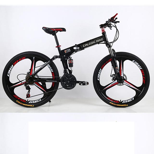 Mountain Bike / Folding Bike Cycling 21 Speed 26 Inch / 700CC SHIMANO Double Disc Brake Suspension Fork Rear Suspension Ordinary / Standard Aluminium Alloy / Steel