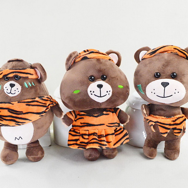 Bear Teddy Bear Stuffed Animal Plush Toy Soft Cartoon Toy Decorative Cute Perfect Gifts Present for Kids Babies Toddler / Kid's