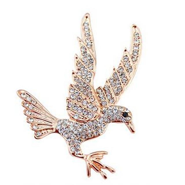 European And American Fashion Individual Diamond Animal Eagle Brooch DM
