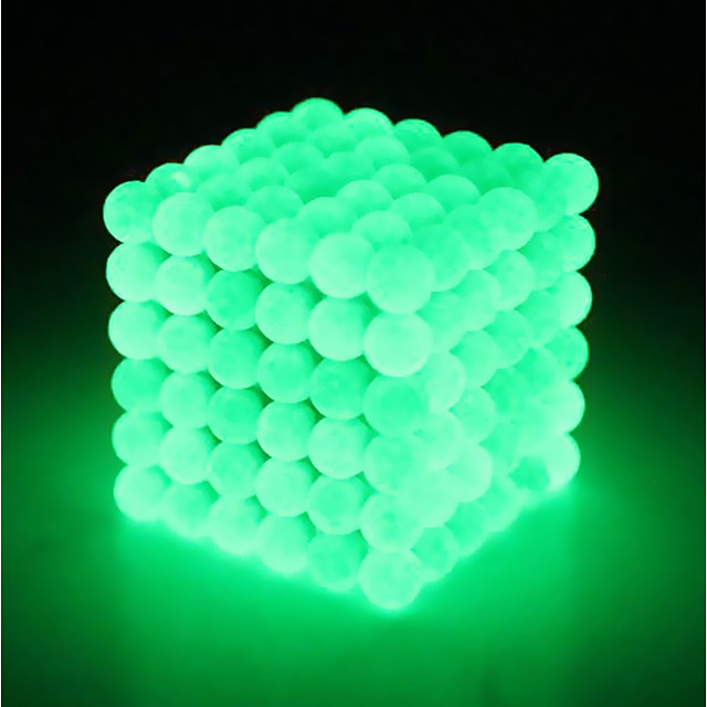 64 pcs 5mm Magnet Toy Magnetic Balls Building Blocks Super Strong Rare-Earth Magnets Neodymium Magnet Puzzle Cube Neodymium Magnet Strand Magnetic Type Glow in the Dark Stress and Anxiety Relief