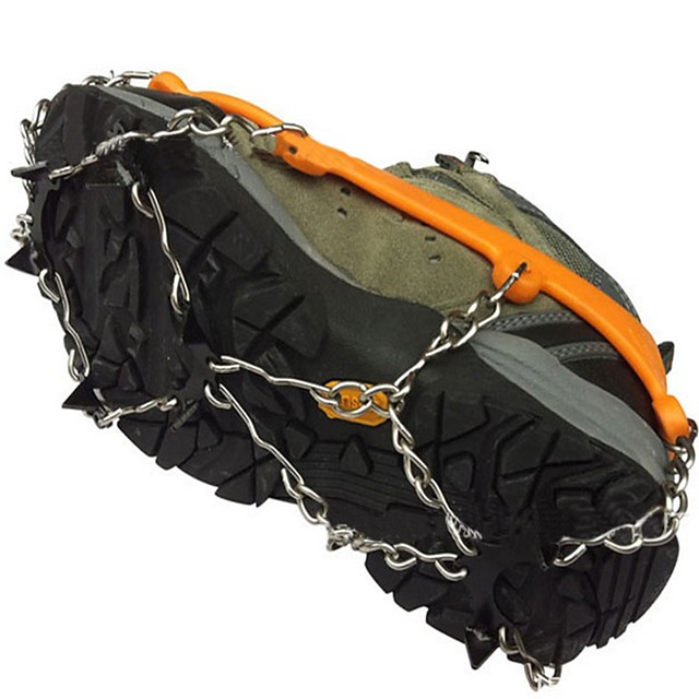 Climbing Protection Crampons Accessories Non-Slip Wear-Resistant Silicone Metal Snowsports Orange Yellow Red