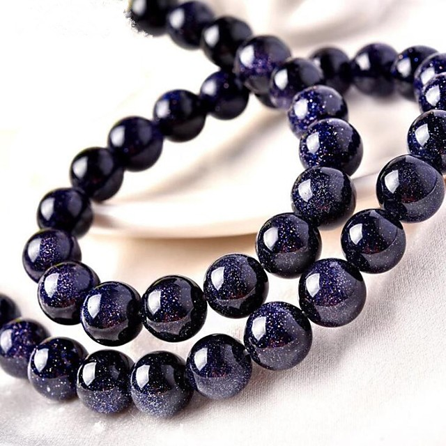 DIY Jewelry 46 pcs Beads Crystal Blue Round Bead 0.8 cm DIY Necklace Bracelet