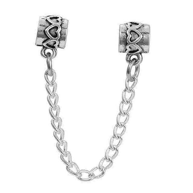 DIY Jewelry 1 pcs Beads Alloy Silver Cylinder Bead 0.5 cm DIY Necklace Bracelet