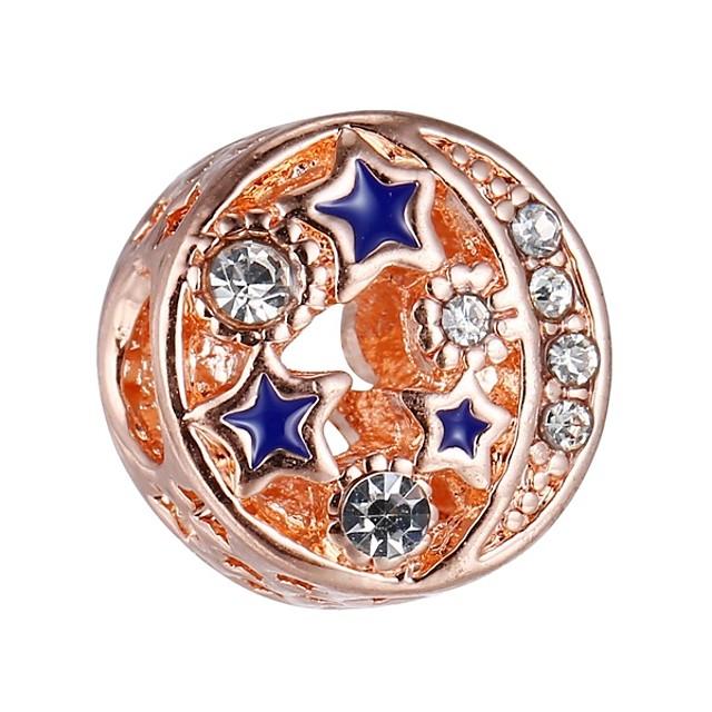 DIY Jewelry 1 pcs Beads Alloy Rose Gold Ball Bead 0.43 cm DIY Necklace Bracelet