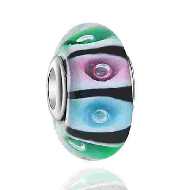 DIY Jewelry 1 pcs Beads Coloured Glaze Alloy Rainbow Round Bead 0.5 cm DIY Necklace Bracelet