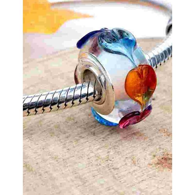 DIY Jewelry 1 pcs Beads Glass Alloy Silver Round Bead 0.2 cm DIY Necklace Bracelet