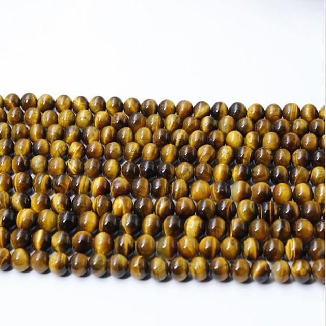 DIY Jewelry 65 pcs Beads Crystal Yellow Round Bead 0.6 cm DIY Necklace Bracelet