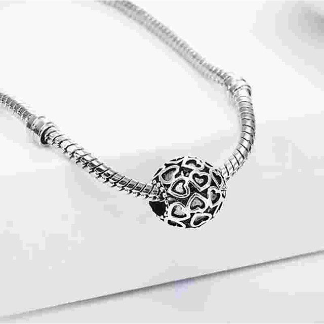 DIY Jewelry 1 pcs Beads Alloy Silver Oval Bead 0.5 cm DIY Necklace Bracelet