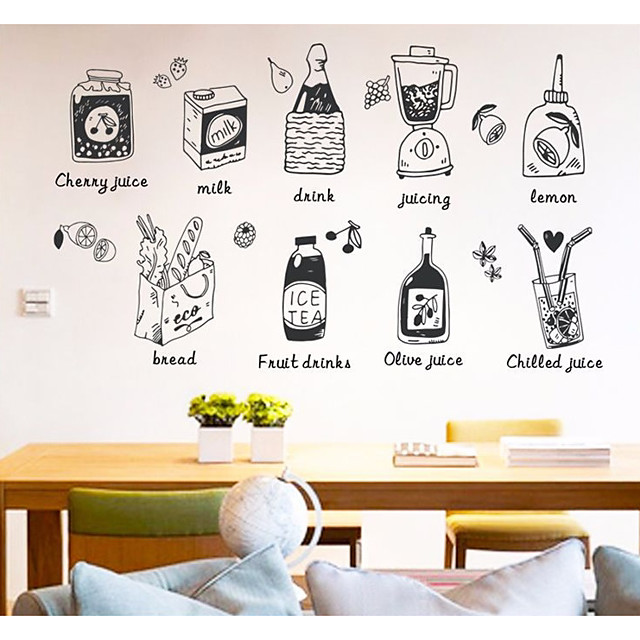 Autocolantes de Parede Decorativos - Autocolantes 3D para Parede Comida / Comida e Bebida Cozinha / Lojas / Cafés