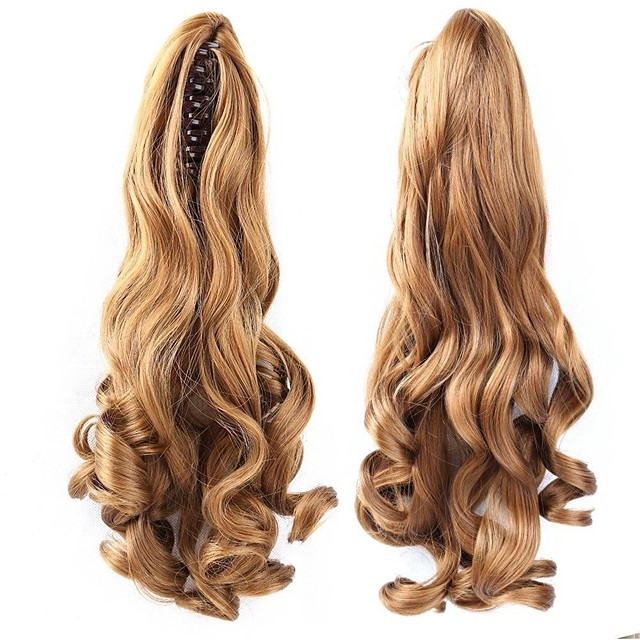Clip In Ponytails / Hair Piece Bear Claw / Jaw Clip Human Hair Hair Piece Hair Extension Wavy