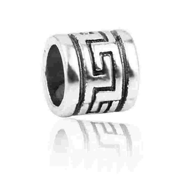 DIY Jewelry 1 pcs Beads Alloy Silver Cylinder Bead 0.2 cm DIY Necklace Bracelet