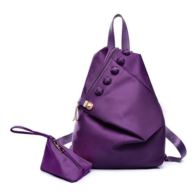 Жен. Мешки Нейлон рюкзак Пуговицы Лиловый / Пурпурный / Винный