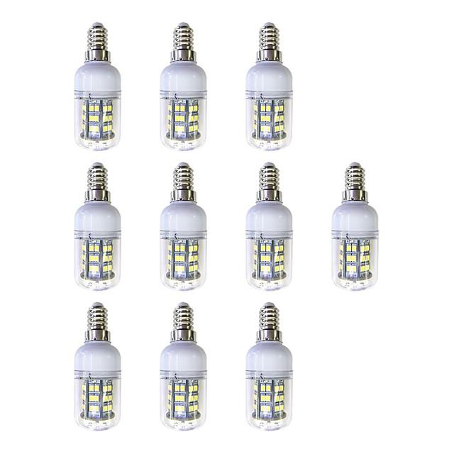 10pcs 3 W 240 lm E12 / E14 48 LED zrnca SMD 2835 LED svjetlo Bijela 220-240 V
