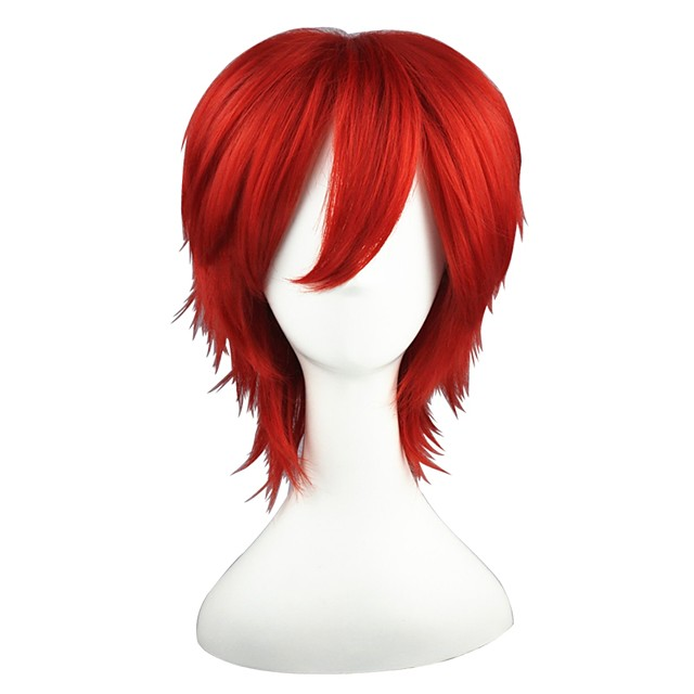 Synthetic Wig Straight Straight Wig Red Synthetic Hair Red