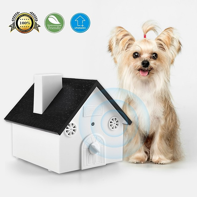 Dog Training Bark Collar Anti Bark Collar Shock Collar No Harm To Dogs or other Pets Easy Hanging / Mounting Birdhouse Shaped Dog Waterproof Trainer Anti Bark Behaviour Aids Ultrasonic Obedience