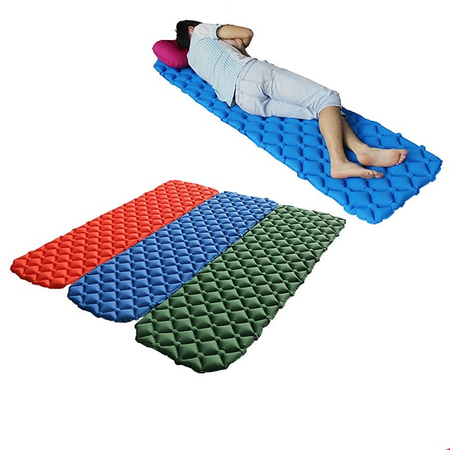 Sleeping Pad Inflatable Sleeping Pad Air Mattress Bed Outdoor Camping Portable Lightweight 3D Pad Ultra Light (UL) TPU Nylon for 1 person Climbing Beach Camping / Hiking / Caving All Seasons Army