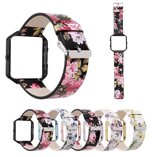 Watch Band for Fitbit Blaze Fitbit Leather Loop Genuine Leather Wrist Strap