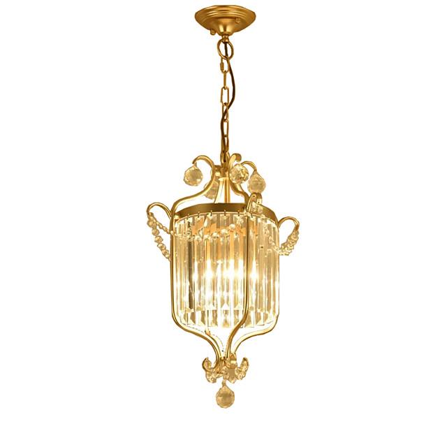 1-Light LightMyself™ 35 cm Crystal Pendant Light Metal Painted Finishes Nature Inspired / Lantern 110-120V / 220-240V