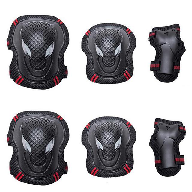 Joelheiras, Cotoveleiras & Munhequeiras para Patins em Linha / Hoverboard / Patins Respirável / Protecção Pacote com 6