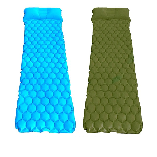Sleeping Pad Inflatable Sleeping Pad Air Pad Outdoor Camping Portable Lightweight Ultra Light (UL) TPU Nylon for 1 person Camping / Hiking / Caving Traveling All Seasons Army Green Blue Orange