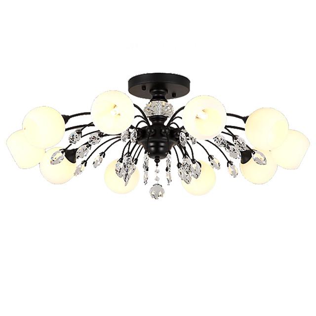 LightMyself™ 10-Light 78 cm Crystal / Matte Chandelier / Pendant Light Metal Glass Painted Finishes Nature Inspired / Chic & Modern 110-120V / 220-240V / G9