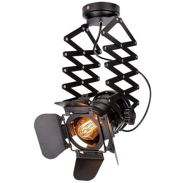 Vintage Loft Spot Light Industrial Pendant Light Black Spotlights Clothes Store Ceiling Lamp