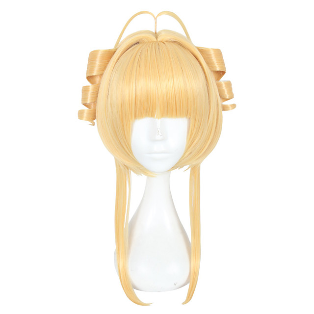 Synthetic Wig Straight Layered Haircut Wig Blonde Medium Length Blonde Synthetic Hair Women's Natural Hairline Blonde
