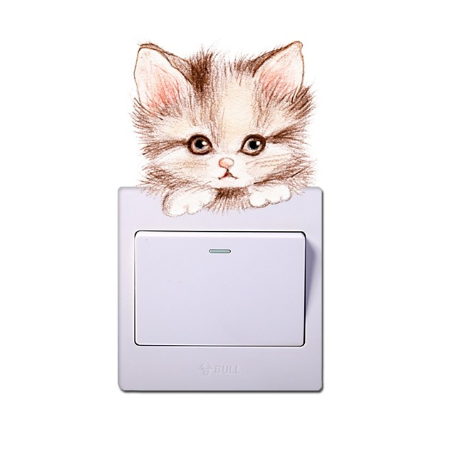 Wall Decal Decorative Wall Stickers Light Switch Stickers - Animal Wall Stickers Animals Re-Positionable Removable
