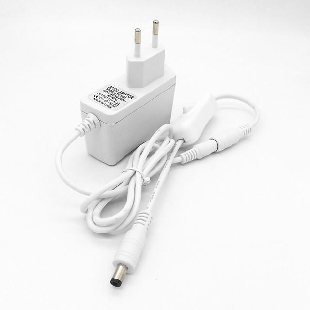 1pc 100-240 V Strip Light Accessory / EU Plastic Power Supply / Button Switch for LED Strip light 24 W