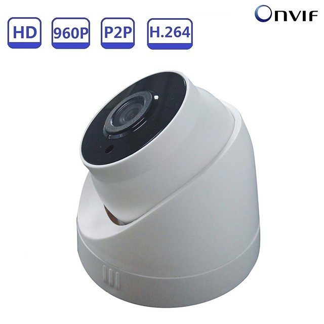 Strongshine® 960P 1.3MP Pan/Tilt Full HD IP Dome Camera with Infrared Day and Night Security Monitoring Support Onvif POE