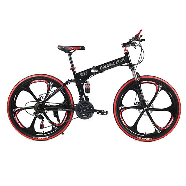 Mountain Bike / Folding Bike Cycling 21 Speed 26 Inch / 700CC SHIMANO TX30 Double Disc Brake Springer Fork Rear Suspension Ordinary / Standard Steel / #