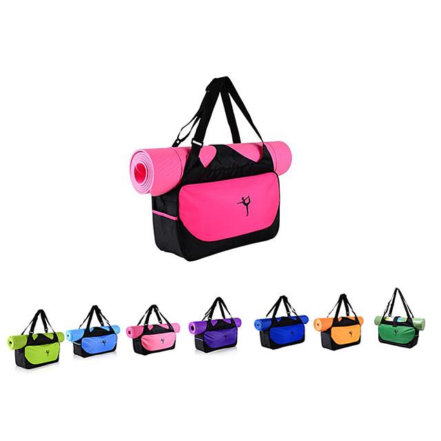 20 L Yoga Mat Bag - Yoga, Pilates, Yogis Strap, Large Capacity, Waterproof Canvas leather, Oxford cloth, Eco-Friendly Deep Blue, Sky Blue, Purple