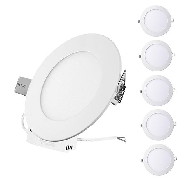 6PCS 3W Round Flat LED Panel Light LampUltra-thin LED Recessed Ceiling Light Natural White / Cold White / Warm White AC85-265V