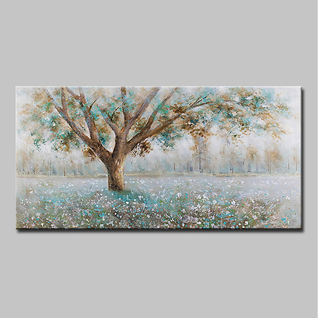 Mintura® Hand-Painted Modern Abstract Tree Oil Painting On Canvas Wall Art Picture For Home Decoration Ready To Hang