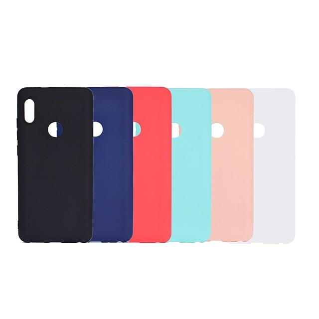 Case For Xiaomi Xiaomi Redmi Note 4X / Xiaomi Redmi Note 4 / Redmi 5A Frosted Back Cover Solid Colored Soft TPU