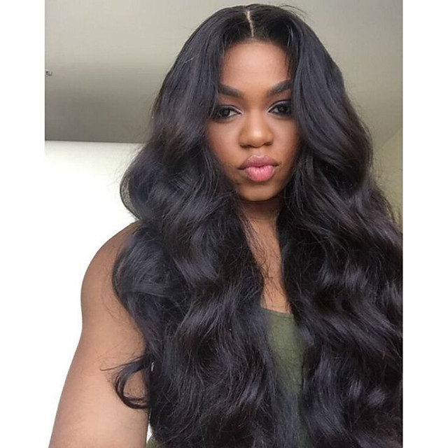 Remy Human Hair Full Lace Wig style Brazilian Hair Wavy Body Wave Wig 150% Density with Baby Hair Natural Hairline Bleached Knots Women's Long Human Hair Lace Wig