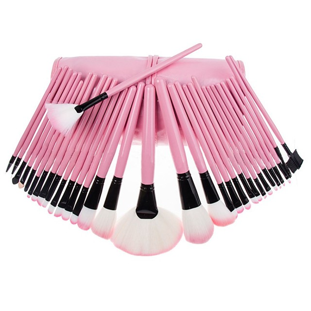 Professional Makeup Brushes Makeup Brush Set 32pcs Professional Full Coverage Artificial Fibre Brush Wooden / Bamboo for